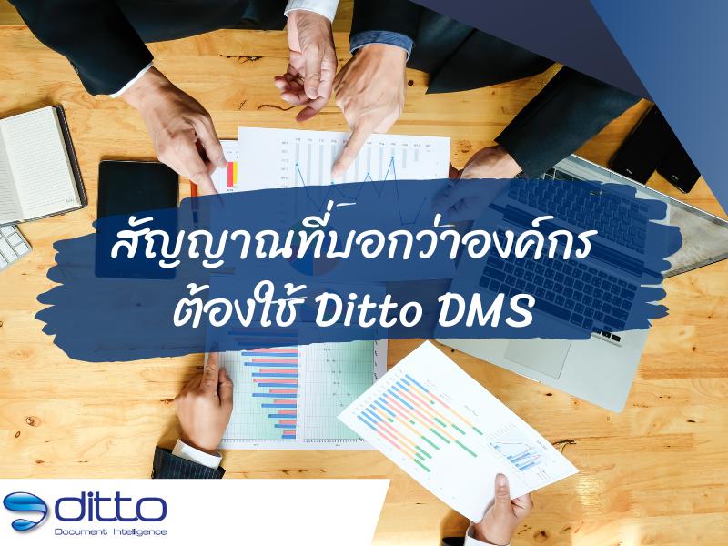 สัญญาณที่บอกว่าองค์กรต้องใช้ Ditto dms